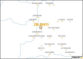 map of Zalokkyi