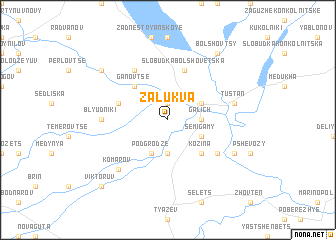 map of Zalukva