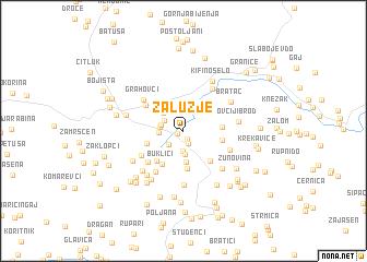 map of Zalužje