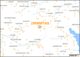 map of Zamanátiko
