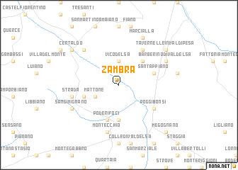 map of Zambra