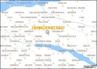 map of Zambrzeniec Nowy
