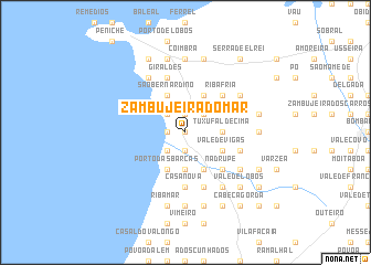 map of Zambujeira do Mar