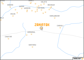 map of Zamīn Tok