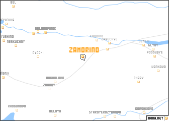 map of Zamorino