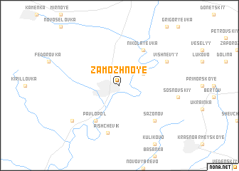 map of Zamozhnoye