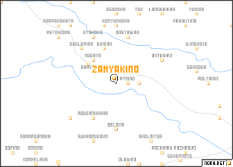 map of Zamyakino