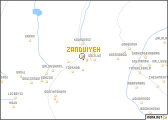 map of Zandū\
