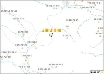 map of Zanjīrān