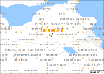 map of Zansebuhr
