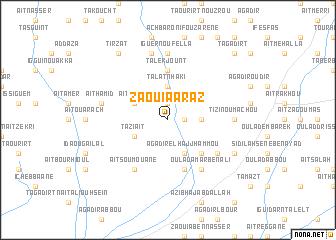 map of Zaouia Araz
