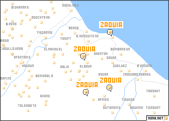 map of Zaouia