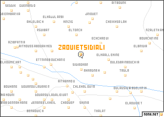 map of Zaouiet Sidi Ali