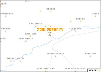 map of Zaovrazhnyy