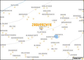 map of Zaovrazh\