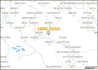 map of Zapolednik
