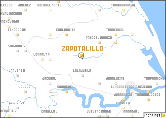 map of Zapotalillo
