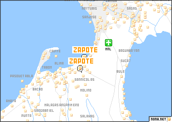 map of Zapote