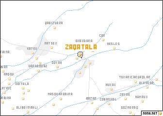 map of Zaqatala