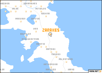 map of Zárakes