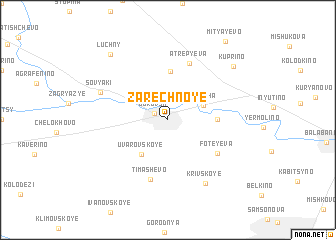 map of Zarechnoye