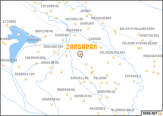 map of Zargarān