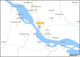 Zaria Nigeria map nonanet