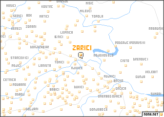 map of Zarići