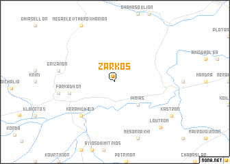 map of Zárkos