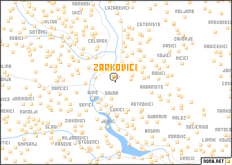 map of Žarkovići