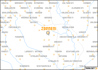 map of Zărneni