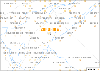 map of Zarównie