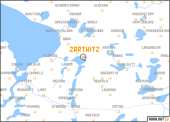 map of Zartwitz
