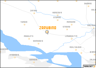 map of Zarubino