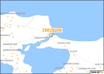 map of Zarzouna