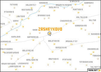 map of Zasheykovo