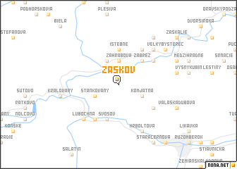 map of Žaškov