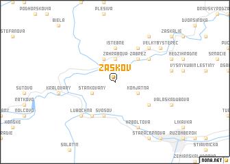 map of Žaškov