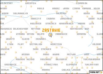 map of Zastawie
