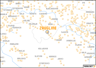 map of Zaugline