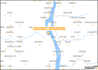 map of Zaunggyandaung