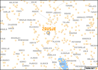 map of Zaušje