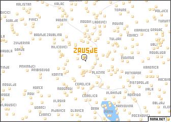 map of Zaušje