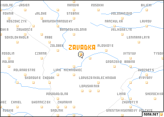 map of Zavadka