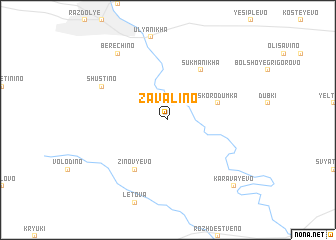 map of Zavalino