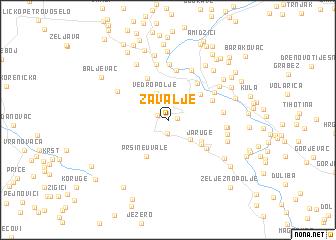 map of Zavalje