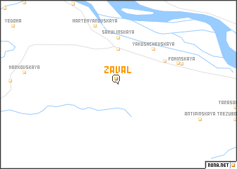 map of Zaval