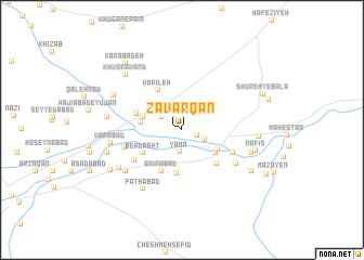map of Zavarqān