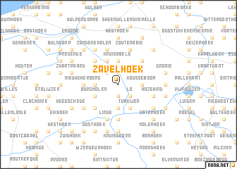 map of Zavelhoek