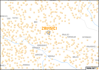 map of Zavišići